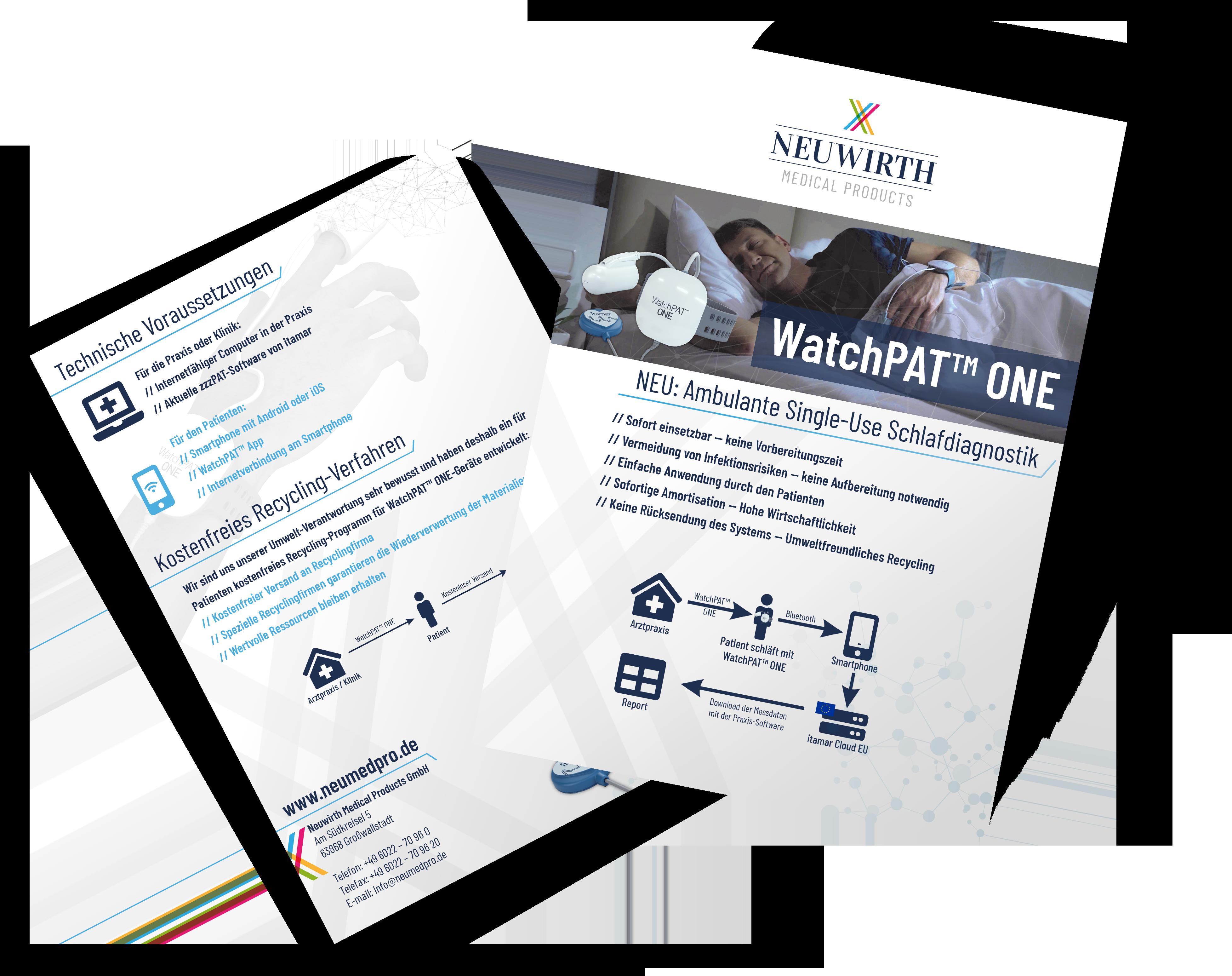 Produktflyer Design WatchPat One
