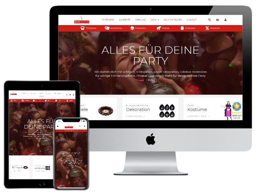 Webdesign E Commerce Referenz Beste Party.de