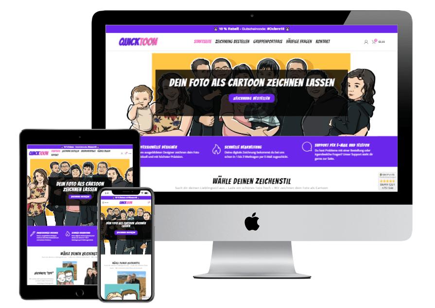 Webdesign Quicktoon